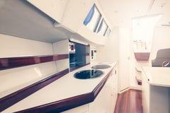 Interno dell'yacht immagine stock libera da diritti