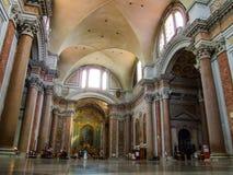 Interno della basilica cattolica di St Mary degli angeli ed i martiri a Roma in Italia Immagine Stock Libera da Diritti