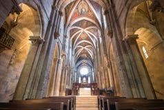 Interno della basilica di Pannonhalma, Pannonhalma, Ungheria fotografia stock libera da diritti