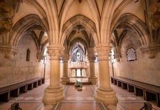 Interno della basilica di Pannonhalma, Pannonhalma, Ungheria fotografie stock