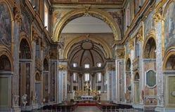 Interno della basilica di San Paolo Maggiore - Napoli Fotografie Stock