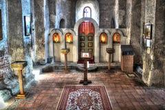 Interno della basilica di Uplistsikhe Fotografia Stock Libera da Diritti