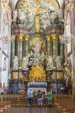 Altare in basilica - santuario di Jasna Gora, Czestochowa, Polonia. Fotografie Stock Libere da Diritti