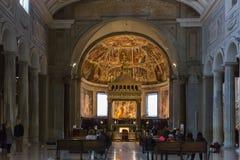 Interno della basilica San Pietro in Vincoli St Peter in C fotografia stock libera da diritti