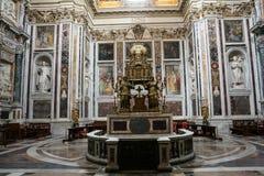 Interno della basilica Santa Maria Maggiore Fotografia Stock