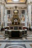 Interno della basilica Santa Maria Maggiore roma Fotografie Stock Libere da Diritti