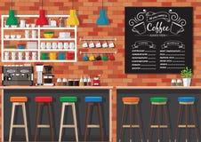 Interno della caffetteria Fotografie Stock Libere da Diritti