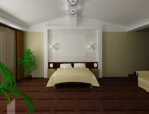 Interno della camera da letto Fotografia Stock Libera da Diritti