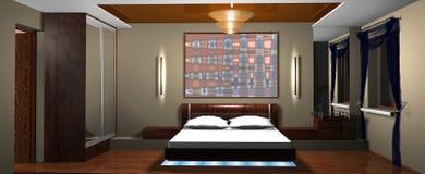 Interno della camera da letto Fotografia Stock