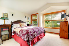 Interno della camera da letto in casa americana Fotografie Stock Libere da Diritti