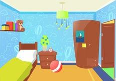 Interno della camera da letto dei bambini Immagini Stock Libere da Diritti