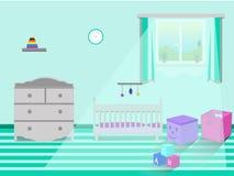 Interno della camera da letto dei bambini Illustrazione di vettore illustrazione di stock