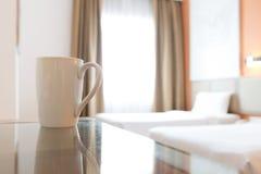 Interno della camera da letto dell'hotel Fotografie Stock