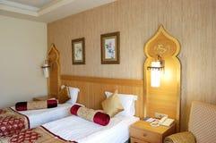 Interno della camera da letto nell'hotel Immagini Stock