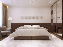 Interno della camera da letto nello stile moderno Fotografia Stock