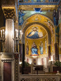 Interno della capella Palantina nella città di Palermo Immagini Stock Libere da Diritti