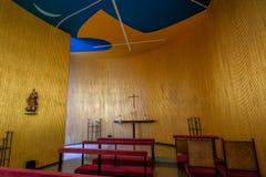 Interno della cappella del palazzo di Alvorada - Brasilia, Distrito federale, Brasile immagini stock