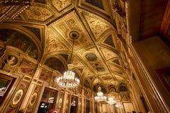 Interno della casa dello stato di opera, Vienna Immagine Stock