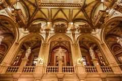 Interno della casa dello stato di opera, Vienna Immagini Stock