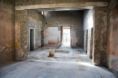 Interno della casa di Pompei Fotografia Stock Libera da Diritti