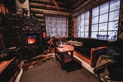 Interno della casa finlandese Fotografia Stock Libera da Diritti