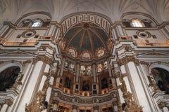 Interno della cattedrale Andalusia Granada Spagna Immagini Stock