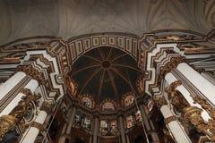 Interno della cattedrale Andalusia Granada Spagna Fotografia Stock Libera da Diritti