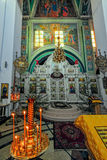 Interno della cattedrale del monastero del ` s delle donne di Kazan, Yaroslavl, Fotografie Stock Libere da Diritti