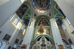Interno della cattedrale del monastero del ` s delle donne di Kazan, Yaroslavl, Fotografia Stock