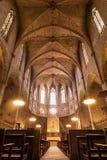 Interno della cattedrale del monastero di Pedralbes immagini stock libere da diritti