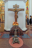 Interno della cattedrale del presupposto della nostra signora, Yaroslavl, Immagine Stock