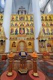 Interno della cattedrale del presupposto della nostra signora, Yaroslavl, Immagine Stock Libera da Diritti