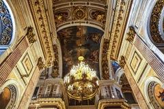 Interno della cattedrale del ` s della st Isaac fotografia stock