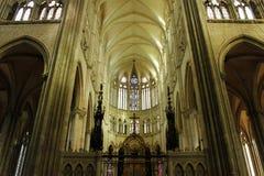 Interno della cattedrale del ` s di Amiens immagine stock libera da diritti