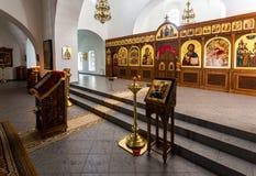 Interno della cattedrale del salvatore al ` s Yuriev O di St George Immagini Stock Libere da Diritti