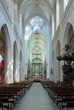 Interno della cattedrale della nostra signora a Anversa Fotografia Stock Libera da Diritti