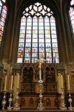 Interno della cattedrale della st Salvators, Bruges, Belgio Fotografia Stock