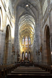 Interno della cattedrale della st Vitus Fotografia Stock