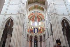 Interno della cattedrale di Almudena Fotografia Stock Libera da Diritti