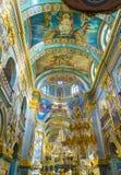 Interno della cattedrale di Dormition Fotografie Stock