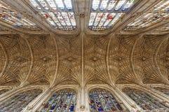 Interno della cattedrale di Gloucester Fotografie Stock Libere da Diritti