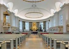 Interno della cattedrale di Gothenburg, Svezia Fotografia Stock