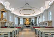 Interno della cattedrale di Gothenburg, Svezia Fotografia Stock Libera da Diritti