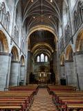 Interno della cattedrale di Hereford Fotografie Stock Libere da Diritti
