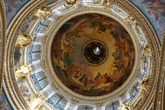 Interno della cattedrale di Isaac del san, San Pietroburgo, Russia Immagini Stock Libere da Diritti