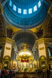Interno della cattedrale di Kazan, St Petersburg, Russia fotografie stock libere da diritti