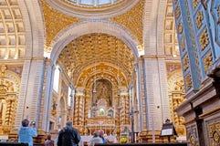 Interno della cattedrale di Nazare Immagine Stock