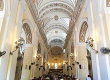 Interno della cattedrale di San Juan Bautista a vecchio San Juan, Puer Immagini Stock Libere da Diritti