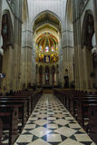 Interno della cattedrale di Santa Maria la Real de la Almudena, pazza Immagini Stock Libere da Diritti