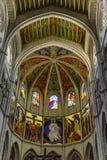Interno della cattedrale di Santa Maria la Real de la Almudena, pazza Fotografia Stock